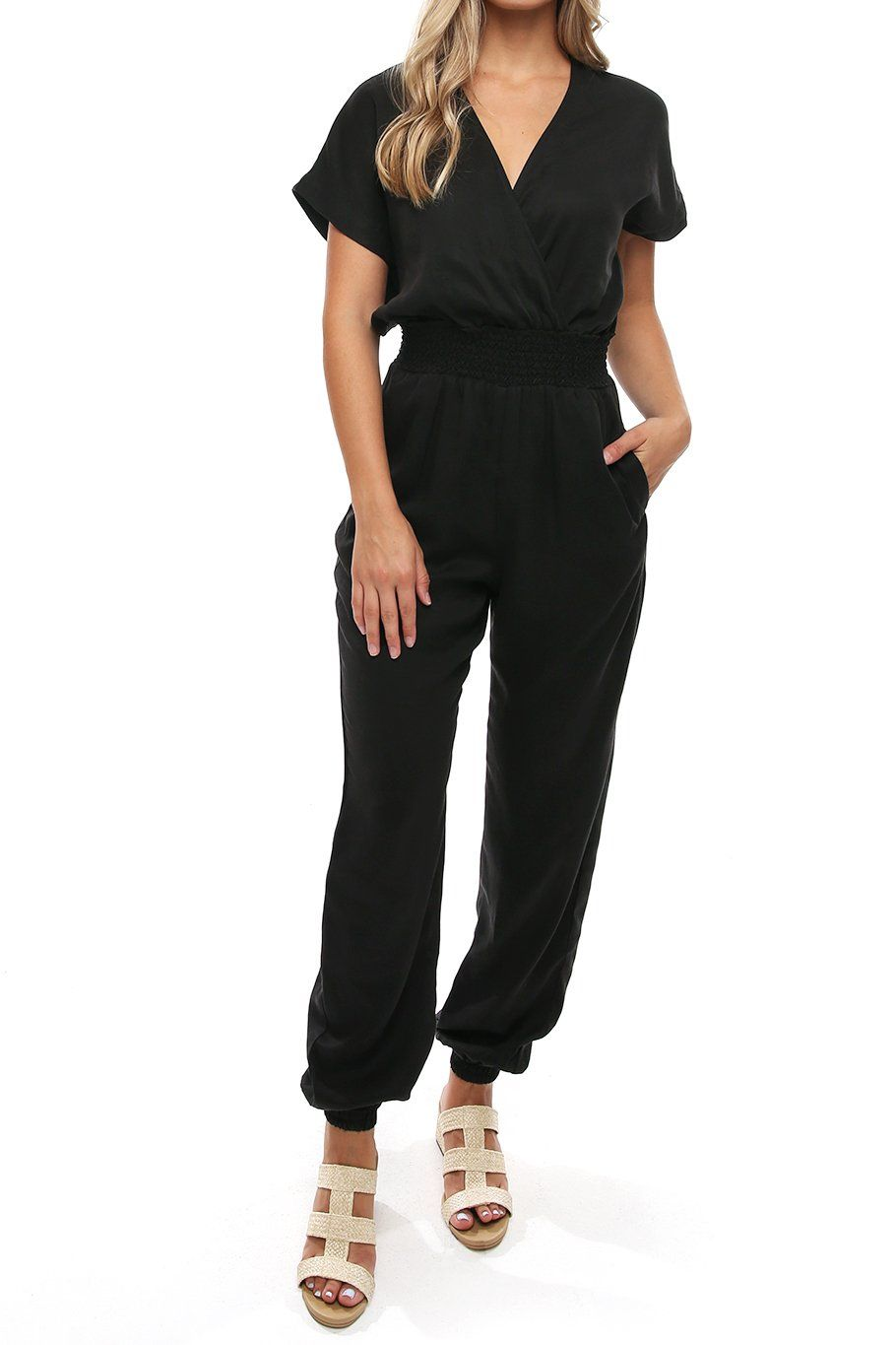 San Pedro Jumpsuit - Black - Shore