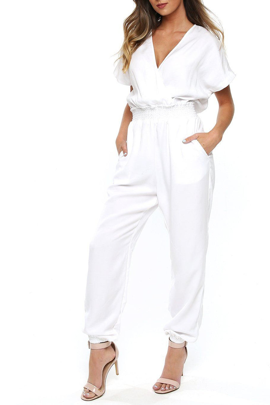 San Pedro Jumpsuit - White - Shore