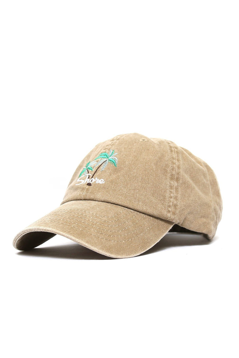 Shore Double Palm Logo Cap - Khaki - Shore