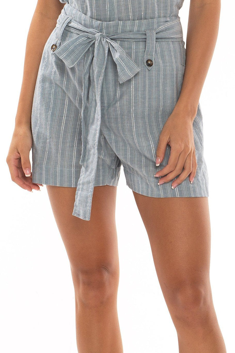 Trouser Short - Dew Stripes - Shore