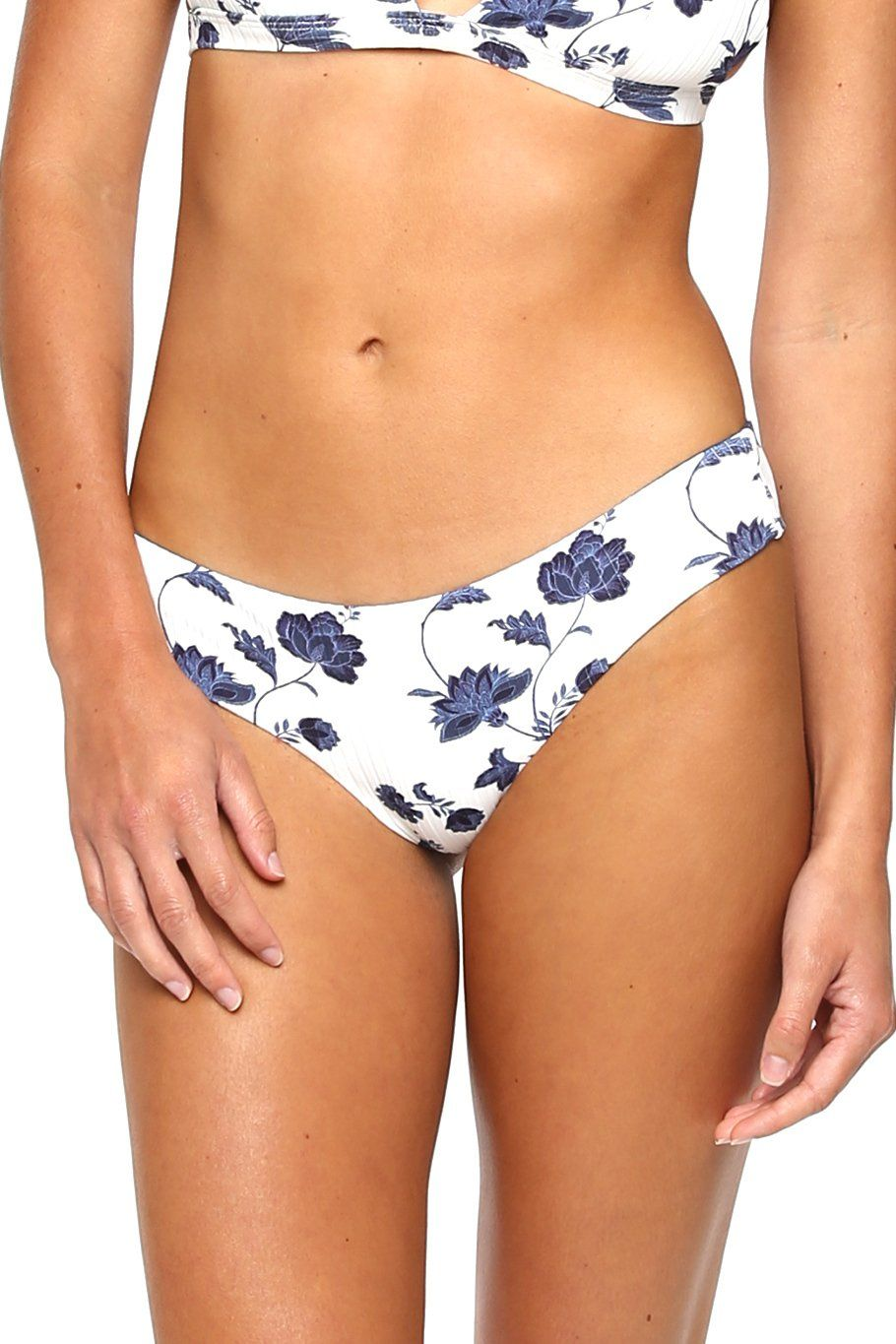 Skimpy Bottom - Vintage Floral Rib - Shore