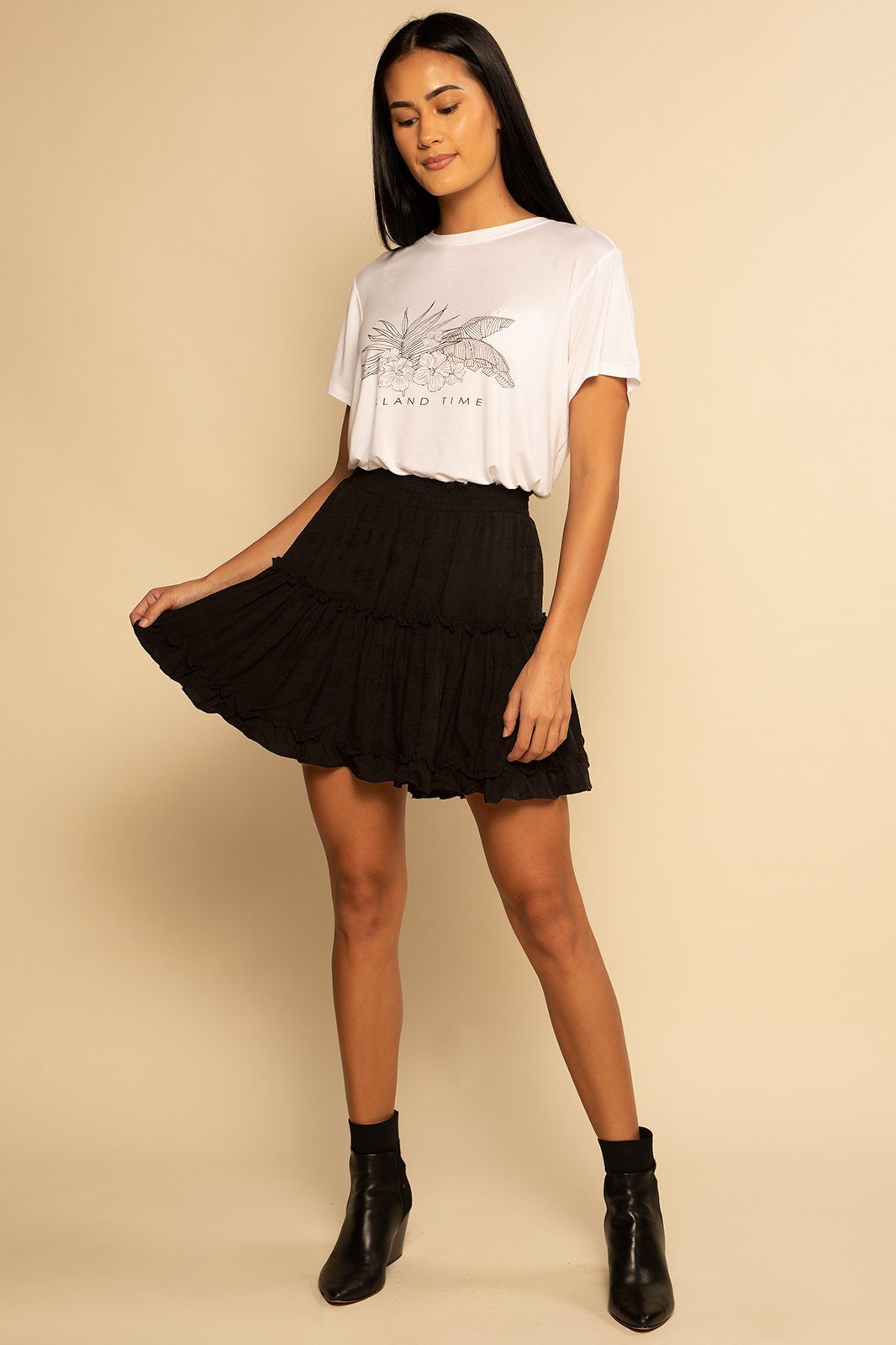 Shoreside Skort - Black Texture - Shore