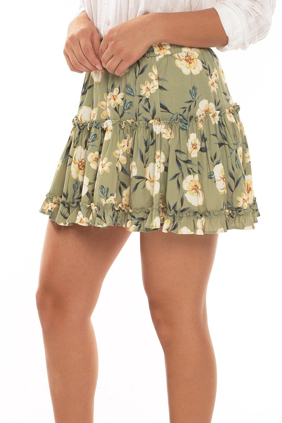 Shoreside Skort - Green Floral - Shore