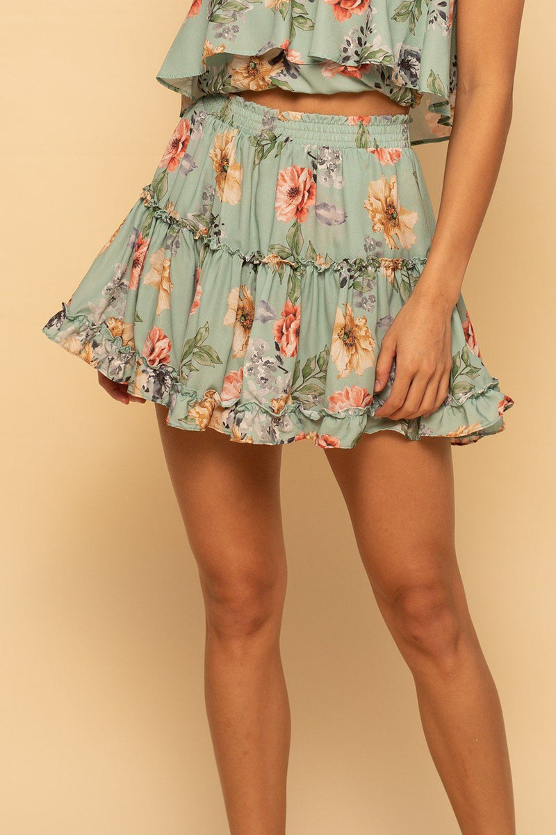Shoreside Skort - Mint Floral - Shore
