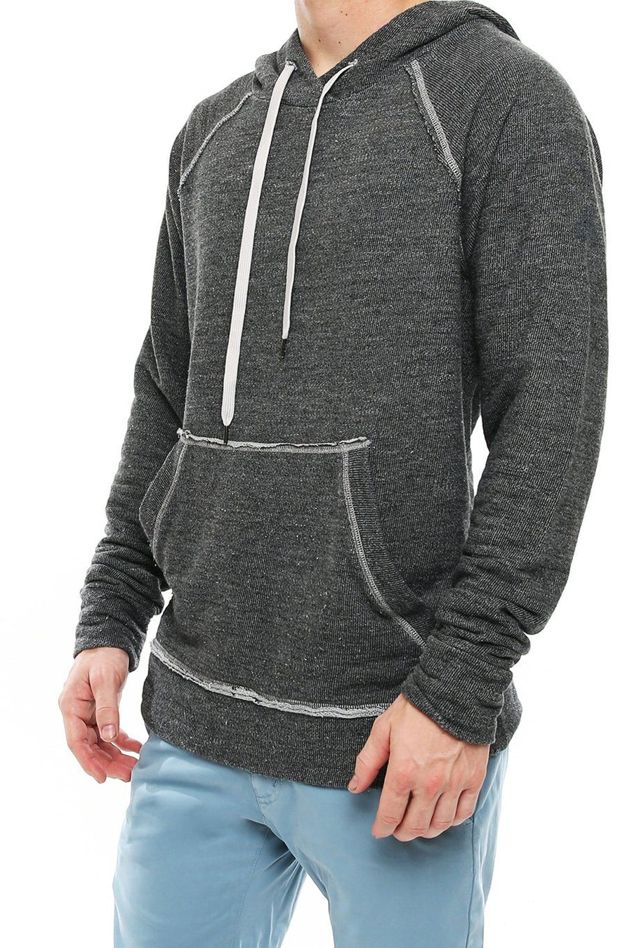 Tri blend Lounge Hoodie - High Rise - Shore