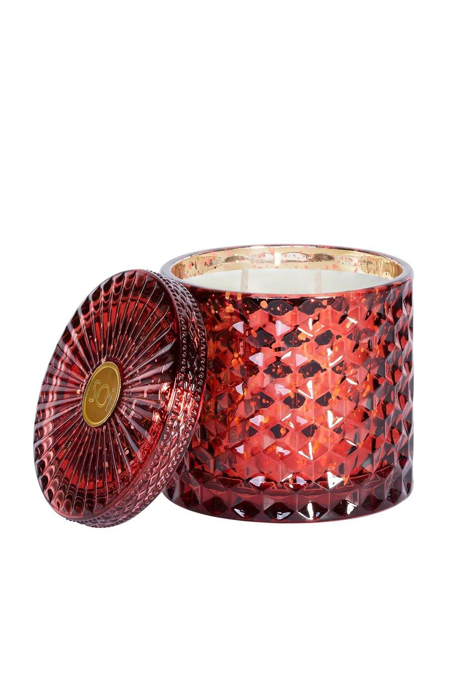 Spice Pomegranate Shimmer Soy Candle - Shore
