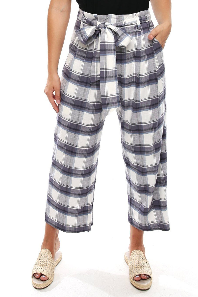 St. Barts Trouser - Sky Plaid - Shore