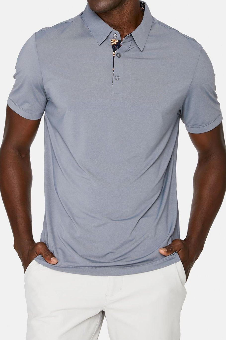 Albatross Seamless Performance Polo - Slate - Shore