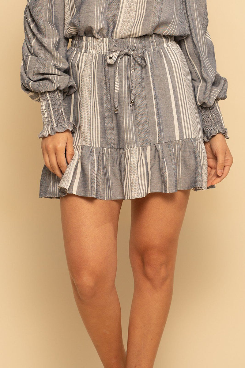 Santa Cruz Skort - Denim Stripe - Shore