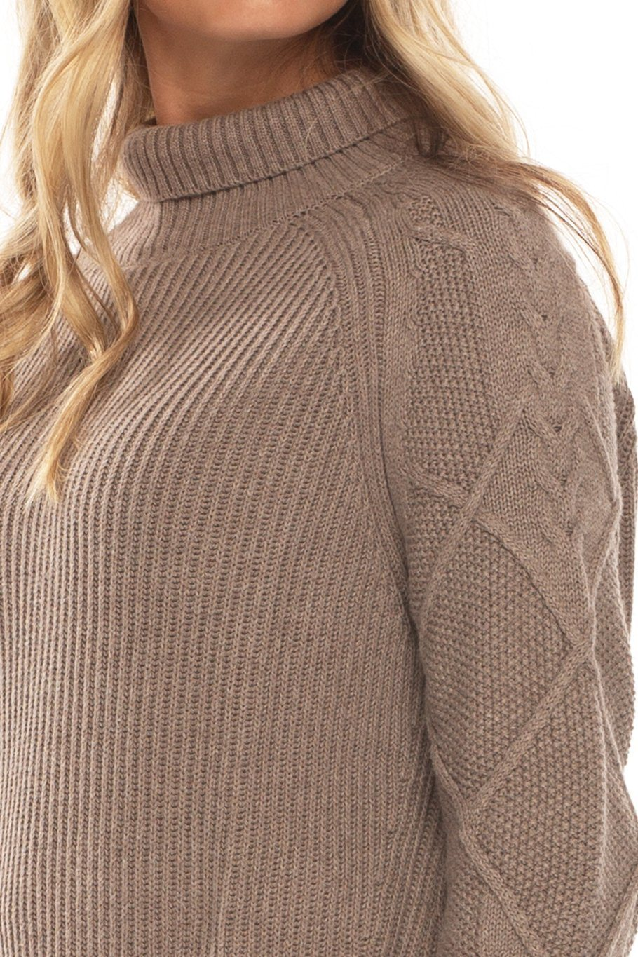 Banff Turtle Neck Sweater - Taupe - Shore