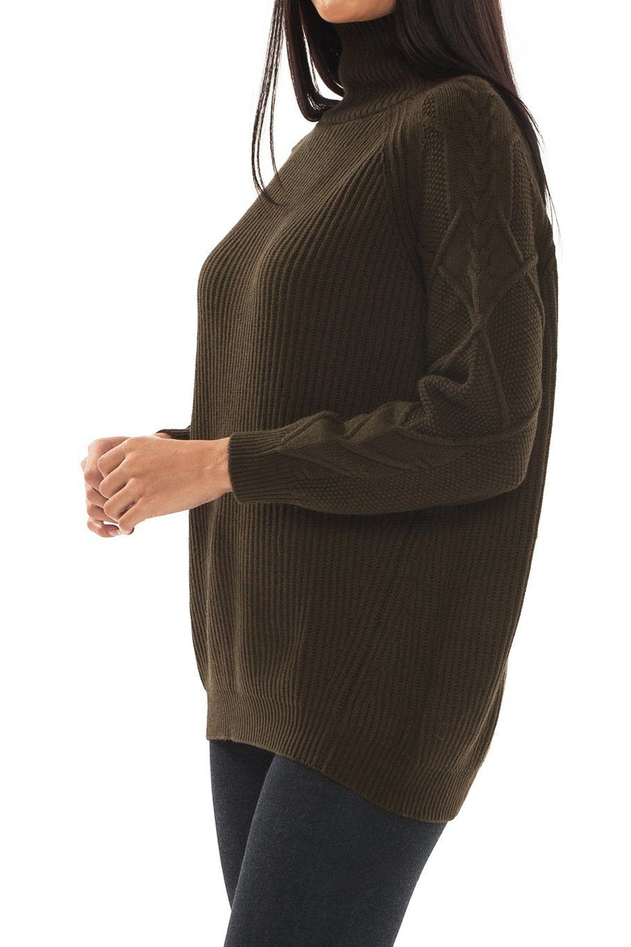 Banff Turtle Neck Sweater - Spruce - Shore