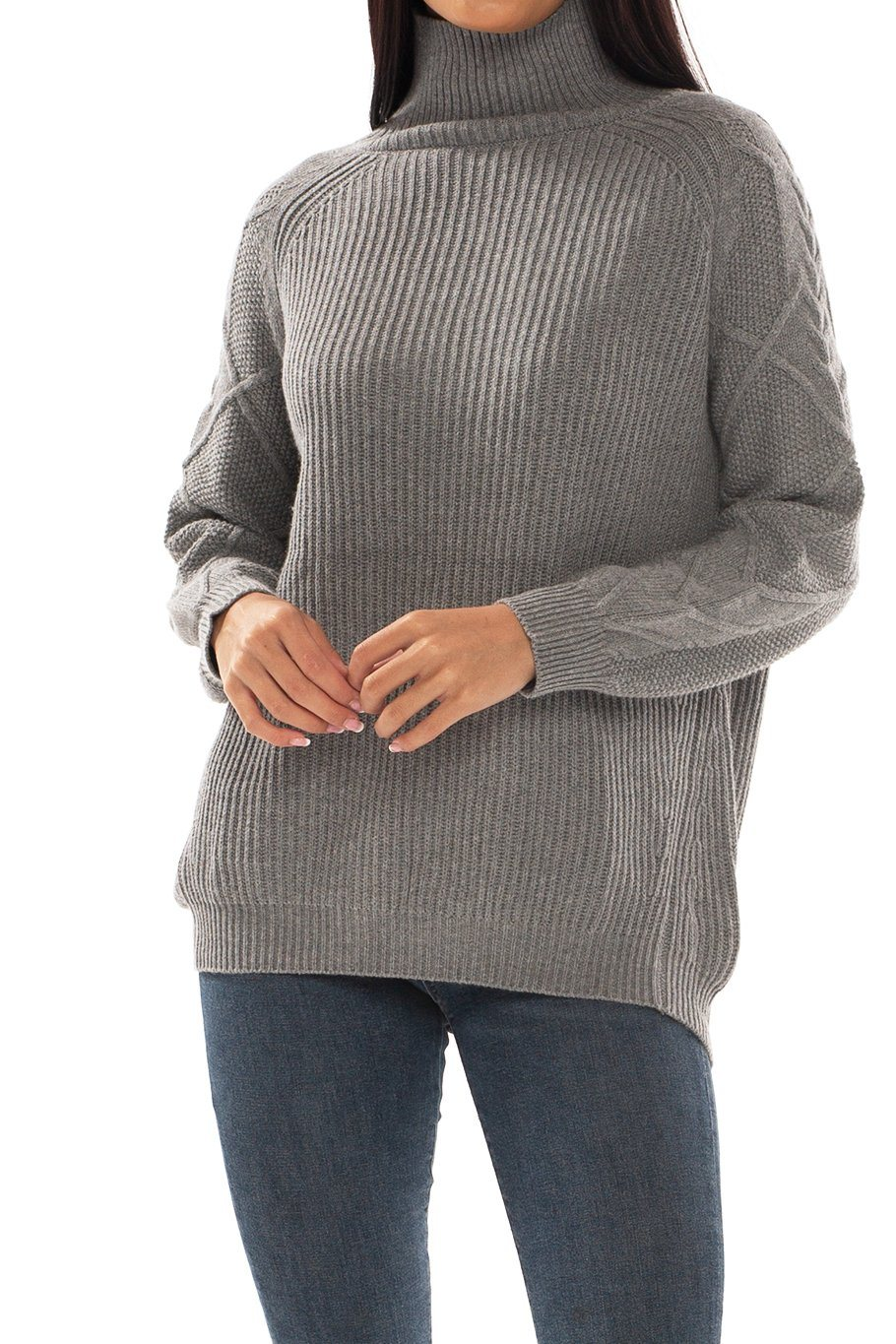 Banff Turtle Neck Sweater - Grey - Shore
