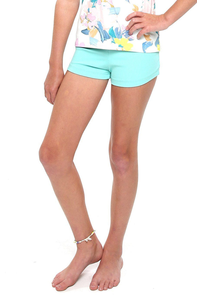 Girls Swim Short - Seaglass - Shore