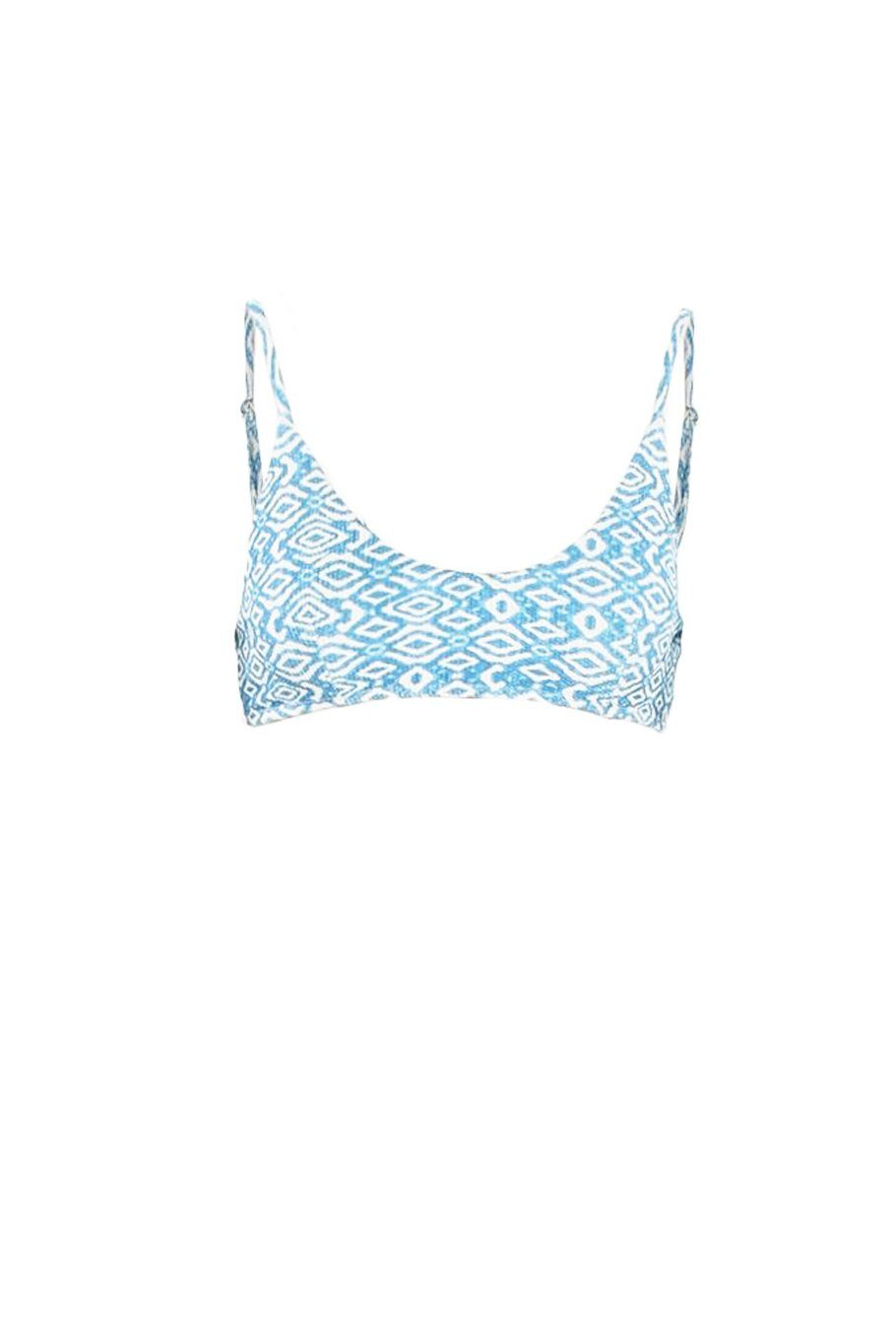 Swoop Top - Blue Diamond