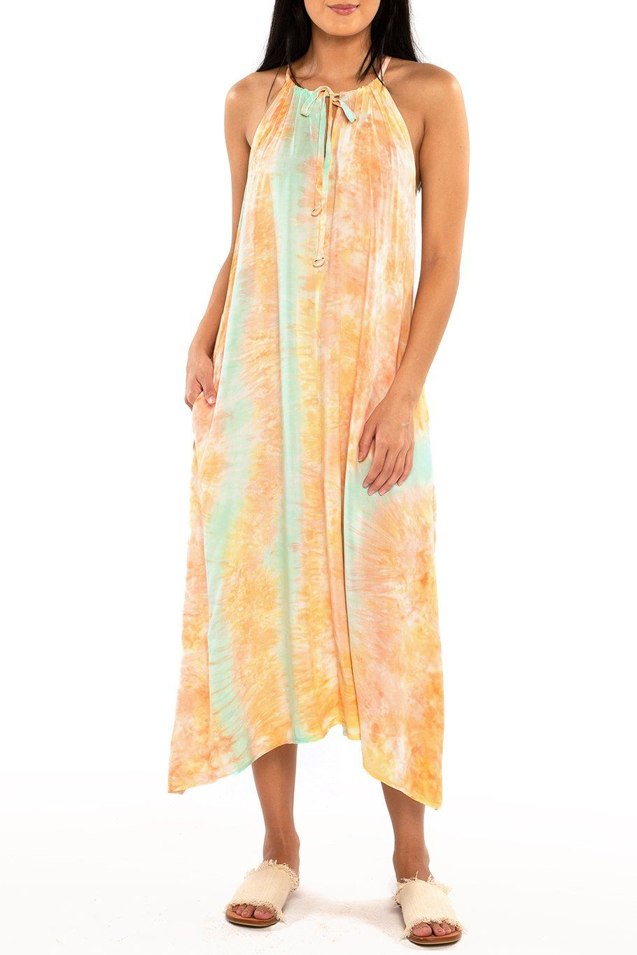 Tahiti Tie Dress - Sunset Dye