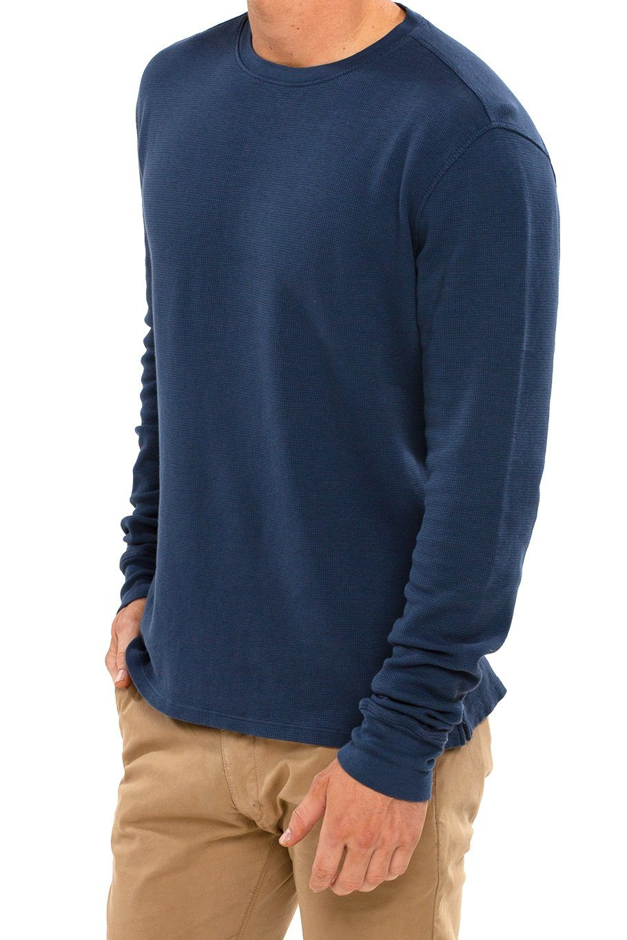Thermal Long Sleeve Crew Tee - Jewel Blue