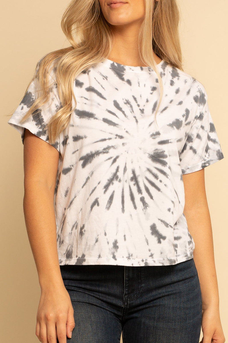 Tie Dye Crop Tee - Cloud Dye - Shore