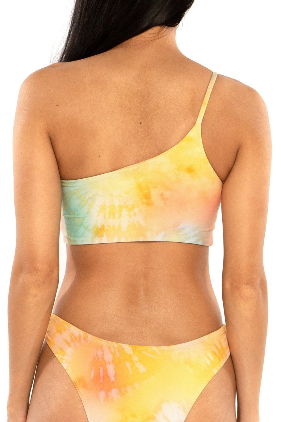 Tulum One Shoulder Top - Sunset Dye