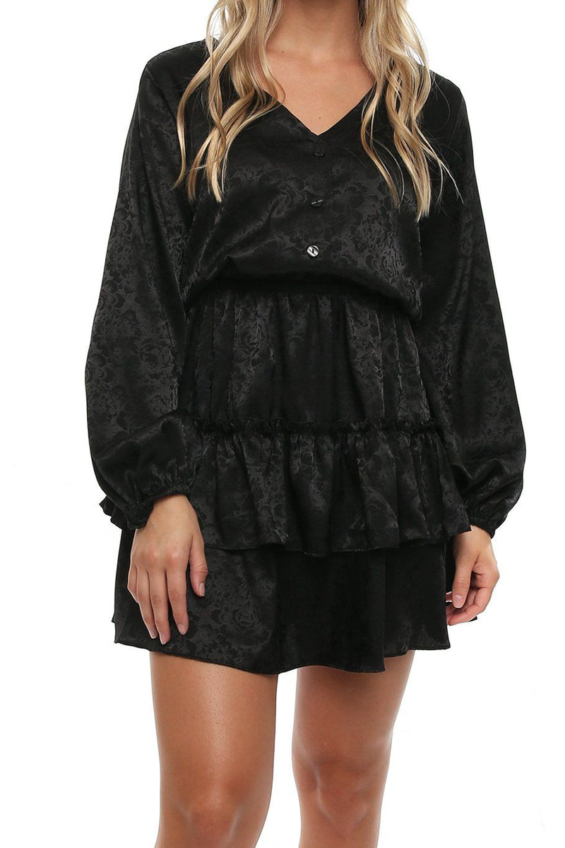 Valencia Dress - Black Rose - Shore