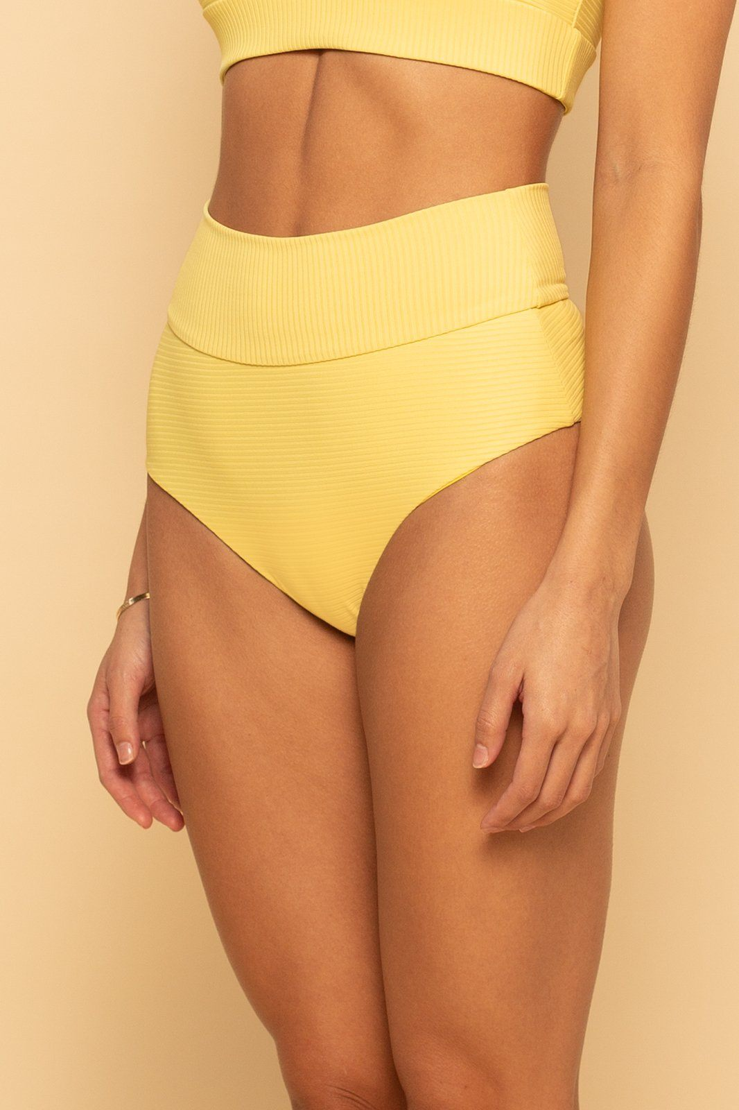 Venice Banded Bottom - Sunshine Rib - Shore