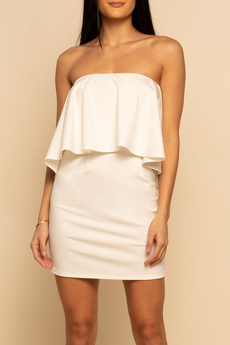 Ponte Mini Dress - Ivory - Shore