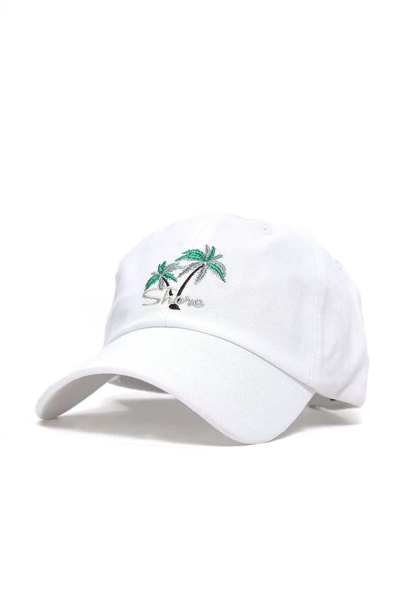 Shore Double Palm Logo Cap - White - Shore
