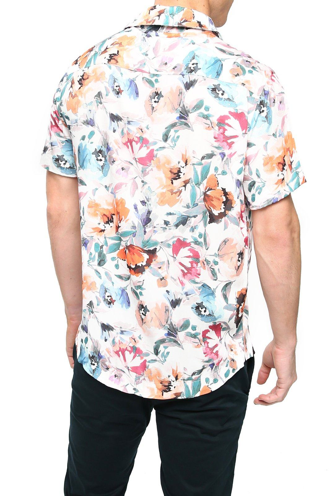 Shore Men's Camp Shirt - Wild Floral - Shore