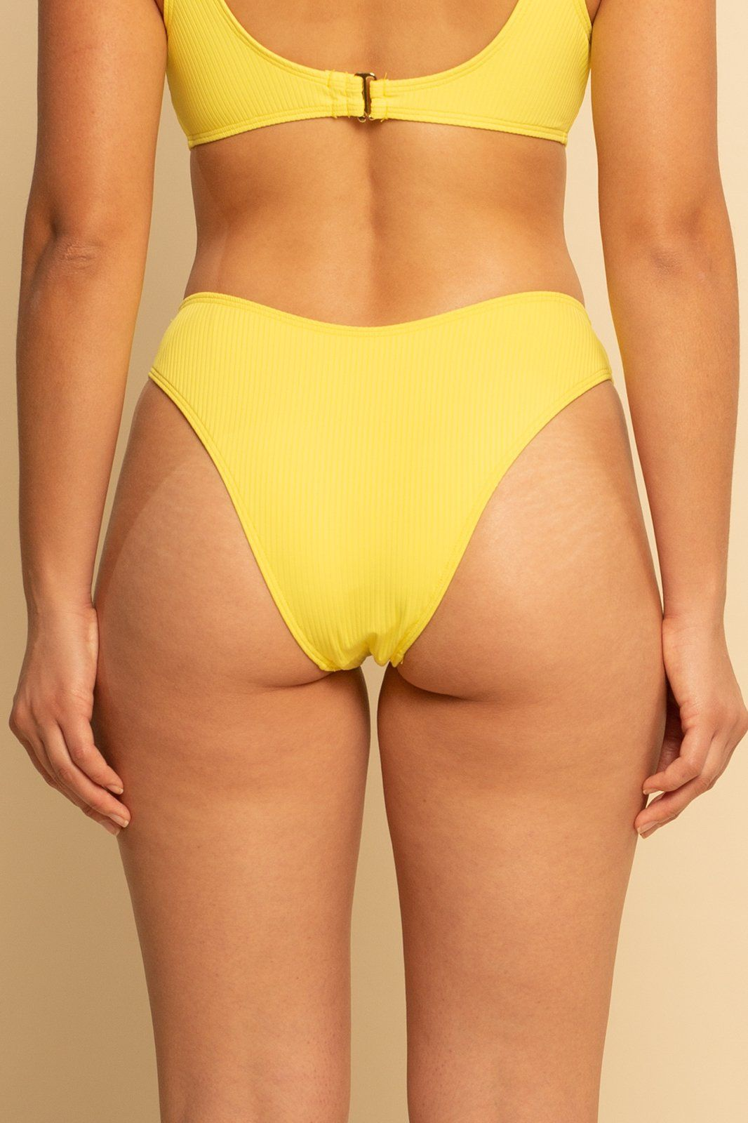 High Hip Bottom - Yellow Rib