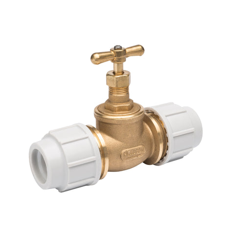 DZR Brass Stop Tap (32mm)