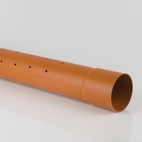 110mm Perforated Socketed Pipe