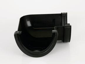 90 degree Gutter Angle - 170mm Deepstyle (Cast Iron Effect)