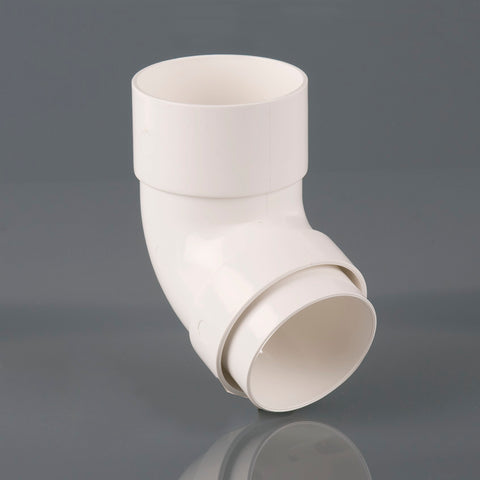 112½º Offset Downpipe Bend (68mm Round PVC)