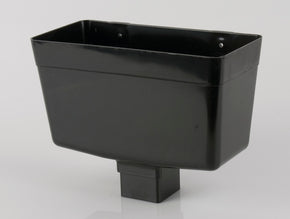 Downpipe Rainwater Head (65mm Square PVC)