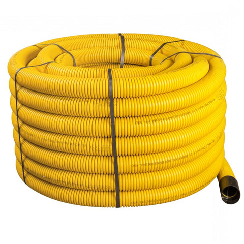 50/63mm Unperforated Gas Duct Coil x 50m