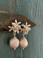 Jasmine Flowers With Baroque Pearls