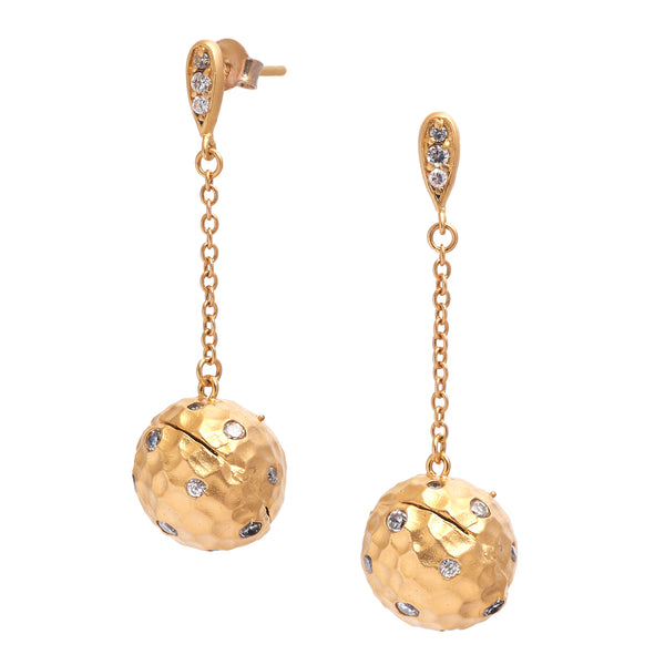 Dangle Ball Earrings