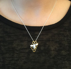 Bee and Honeycomb Pendant