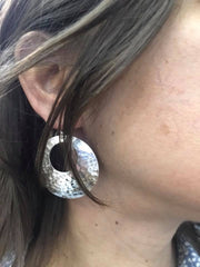 Hammered Statement Drop Earrings