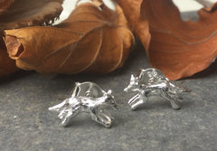 Running Fox Stud Earrings