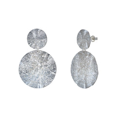 Hammered Coin Drop Earrings