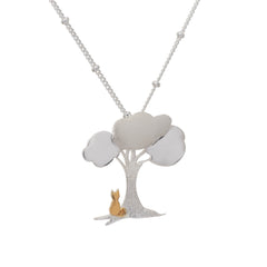 Cat Under The Tree Pendant