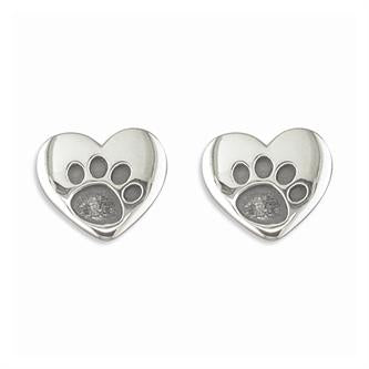 Heart Paw Stud Earrings