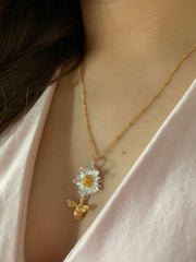Daisy And Bee Pendant