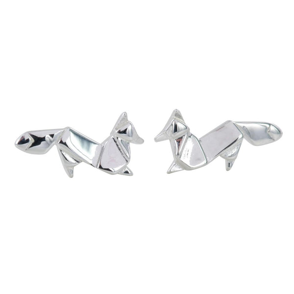 Origami Fox Stud Earrings