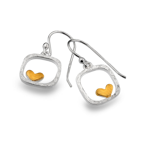 Heart in A Box Earrings