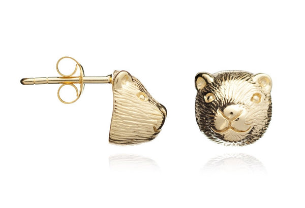 Golden Otter Earrings