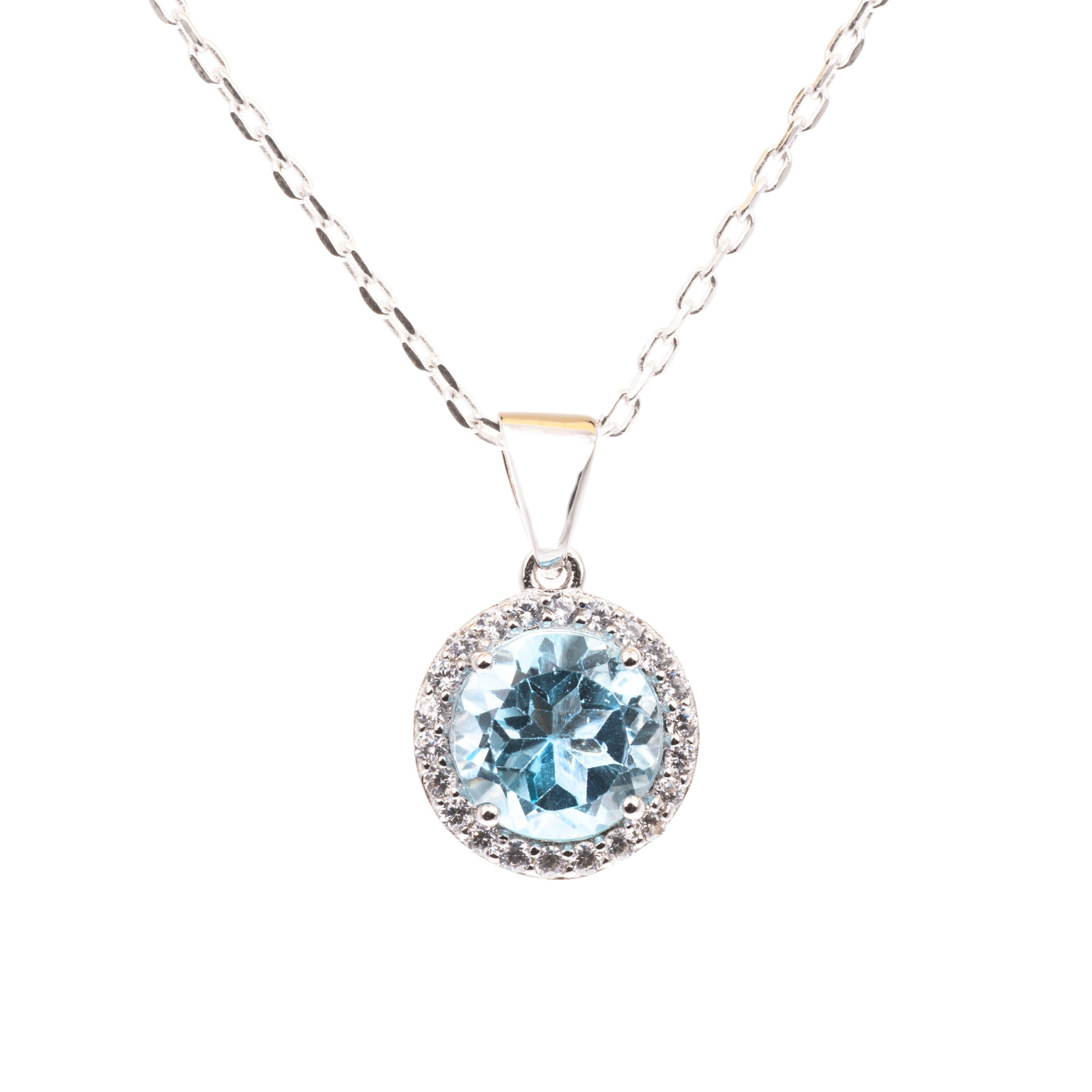 copy and prev pearl pendant blue topaz product