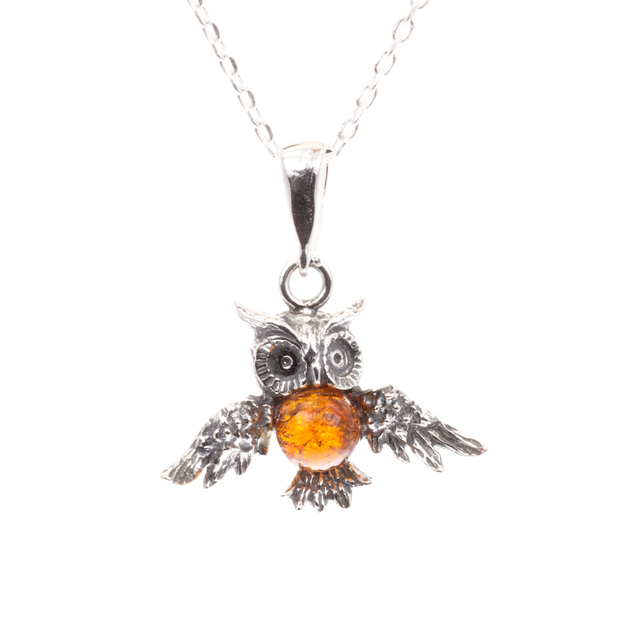 hi rhodium rickis res clear pendant owl crystal necklace
