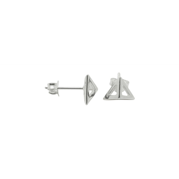 Triangular Pyramid Stud Earrings