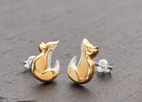Fox Cubs Stud Earrings